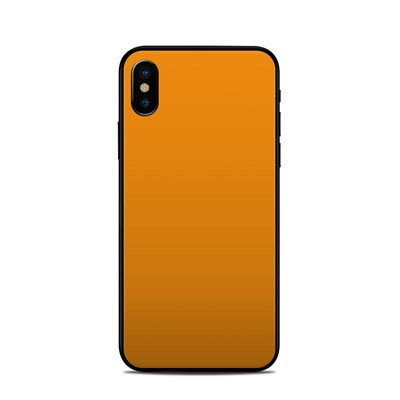 Apple iPhone X Skin - Solid State Orange