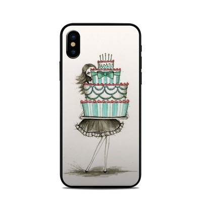 Apple iPhone X Skin - She Takes The Cake