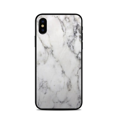 Apple iPhone X Skin - White Marble