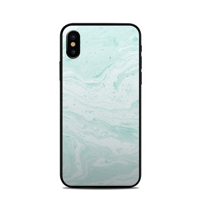Apple iPhone X Skin - Winter Green Marble