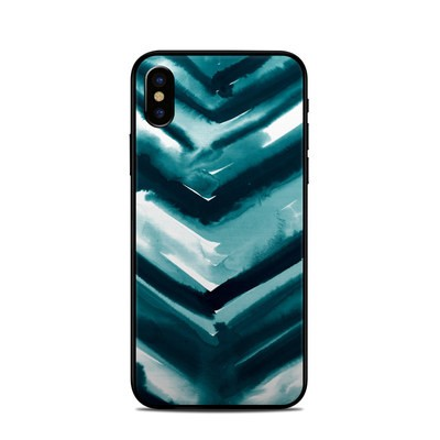 Apple iPhone X Skin - Watercolor Chevron
