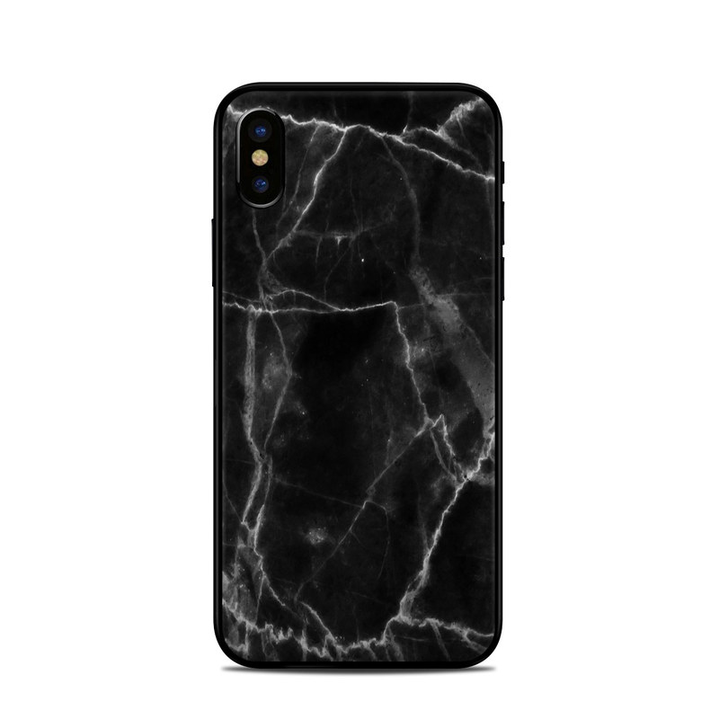 Apple Iphone X Skin Black Marble By Marble Collection Decalgirl