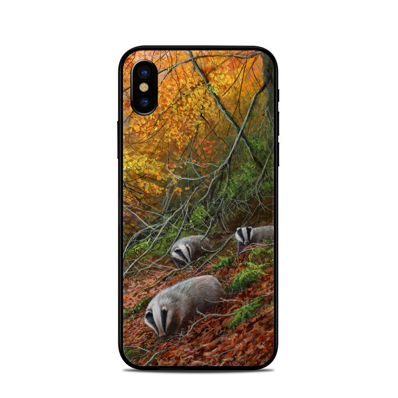 half off 0f2da d334a Apple iPhone X Skin - Forest Gold