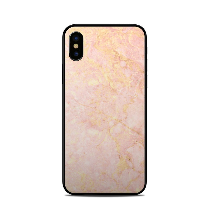 meet 10b7e 81450 Apple iPhone X Skin - Rose Gold Marble