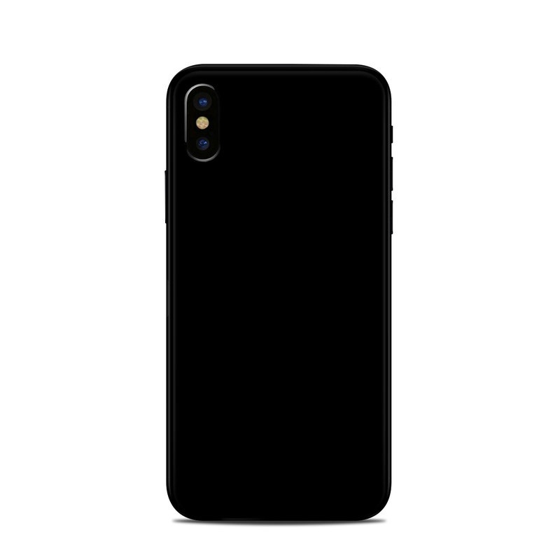 black iphone skin apple iphone x skin solid state black by solid colors 10280