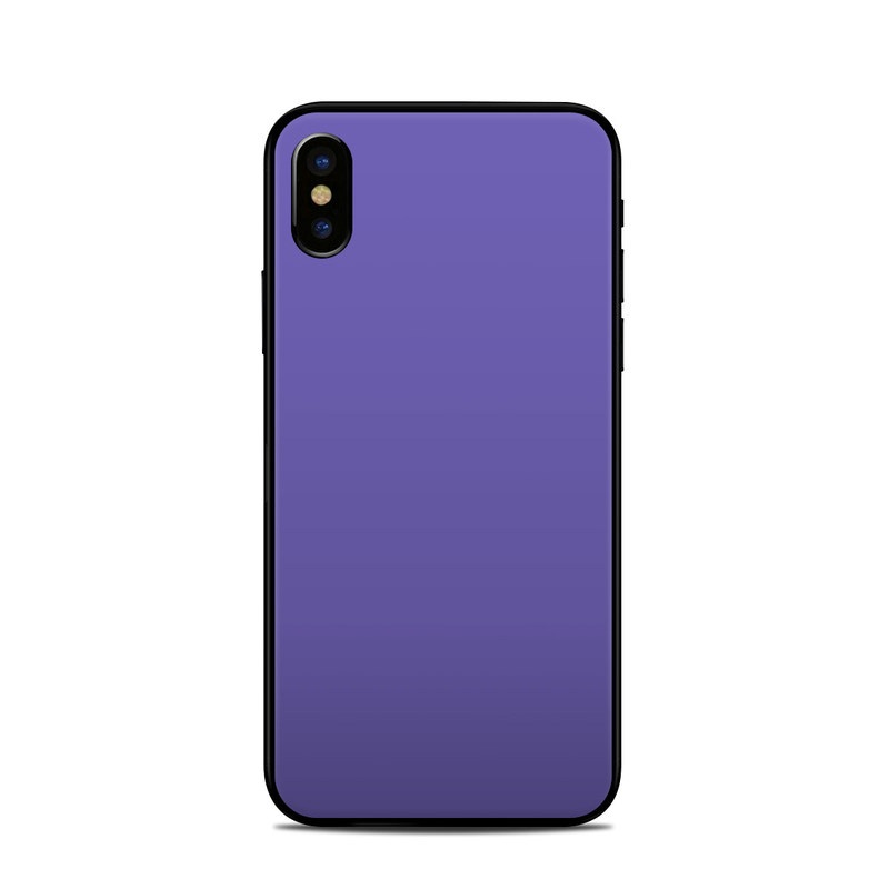 low priced a540b 07887 Apple iPhone X Skin - Solid State Purple