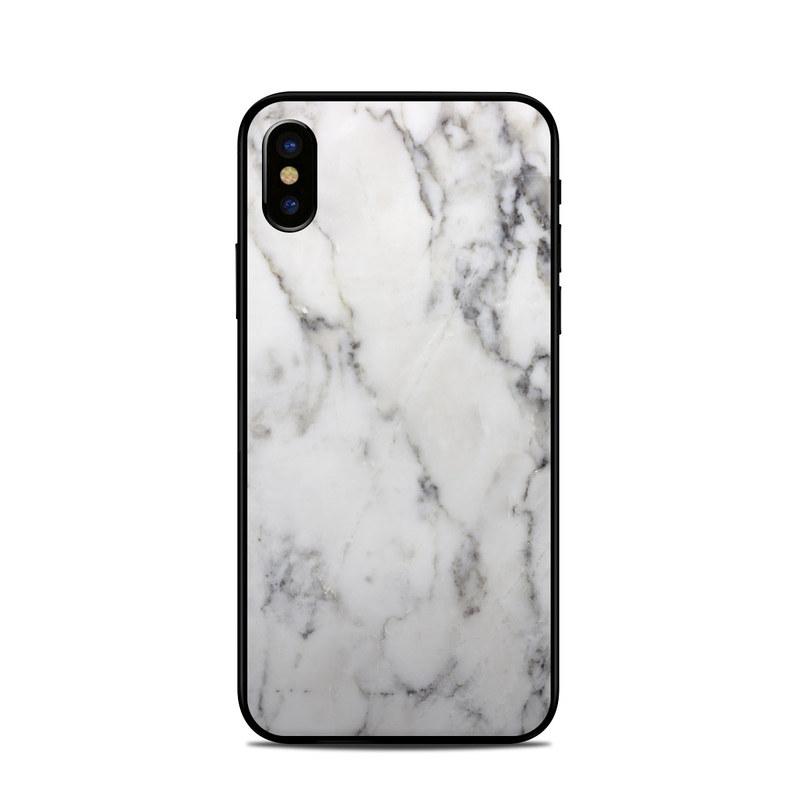 premium selection 74c1d 664e5 Apple iPhone X Skin - White Marble