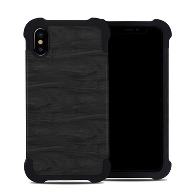 Apple iPhone X Bumper Case - Black Woodgrain