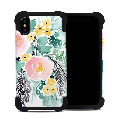 Apple iPhone X Bumper Case - Blushed Flowers