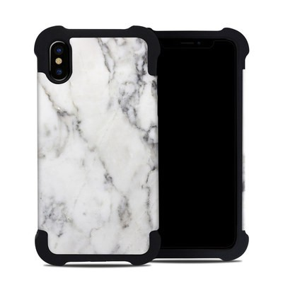 Apple iPhone X Bumper Case - White Marble