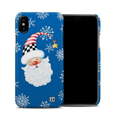 Apple iPhone X Clip Case - Santa Snowflake