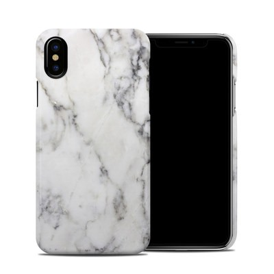 Apple iPhone X Clip Case - White Marble