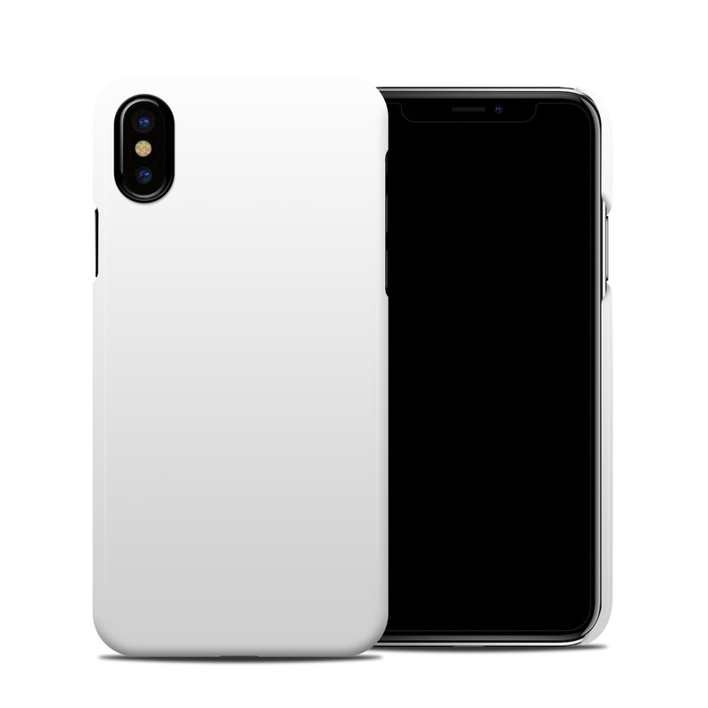 on sale cb084 1498d Apple iPhone X Clip Case - Solid State White