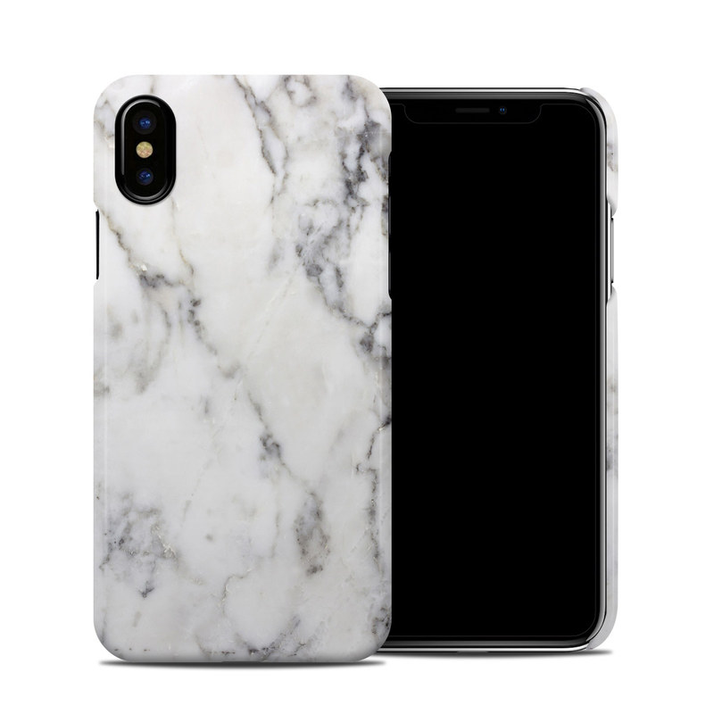 new product 77132 93dc9 Apple iPhone X Clip Case - White Marble