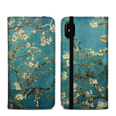 Apple iPhone X Folio Case - Blossoming Almond Tree