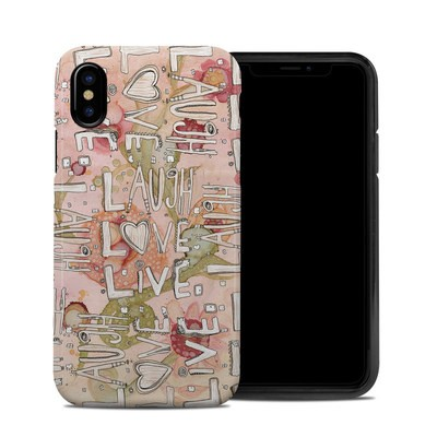 Apple iPhone X Hybrid Case - Love Floral