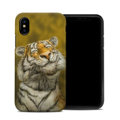 Apple iPhone X Hybrid Case - Smiling Tiger