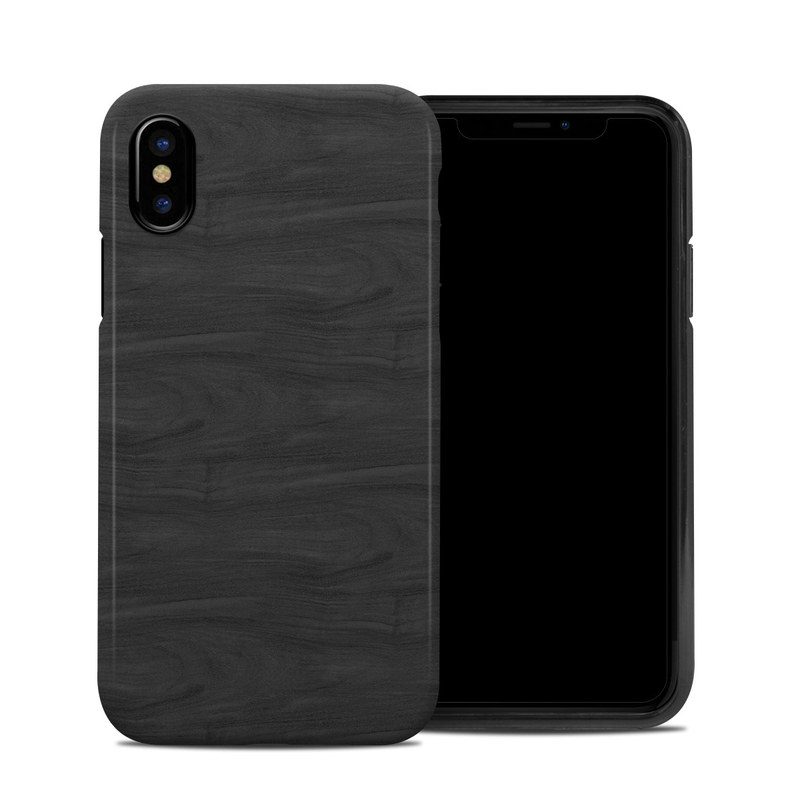 new york 7333f f2124 Apple iPhone X Hybrid Case - Black Woodgrain by DecalGirl Collective