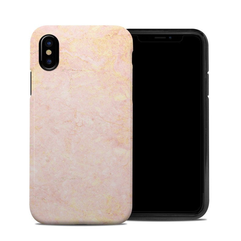 Apple Iphone X Hybrid Case Rose Gold Marble By Marble