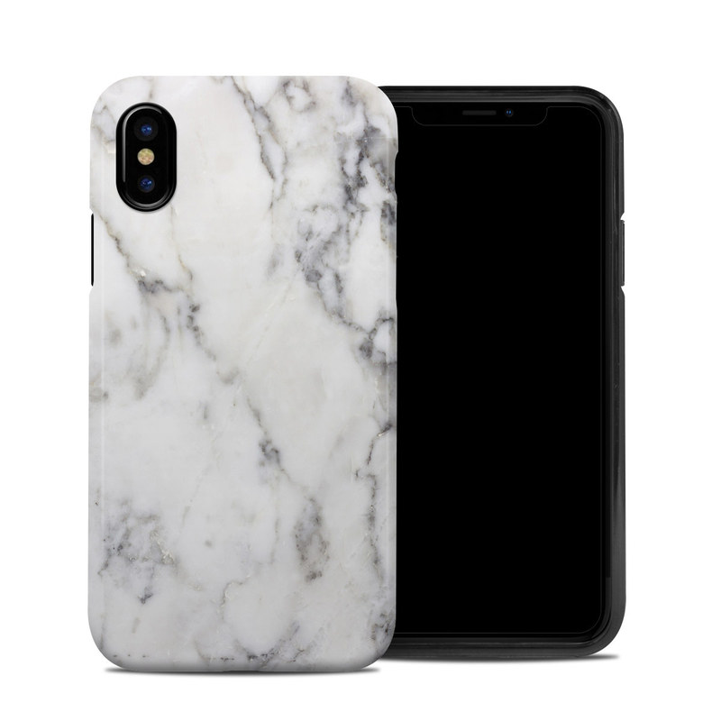 Apple Iphone X Hybrid Case White Marble By Marble