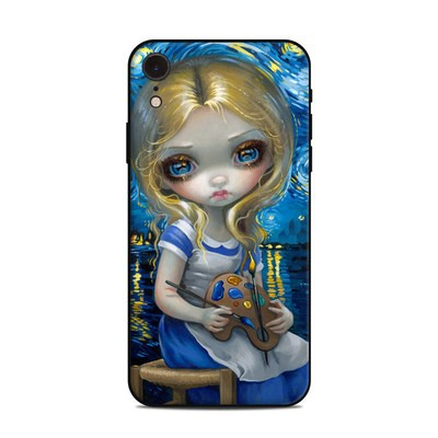 Apple iPhone XR Skin - Alice in a Van Gogh