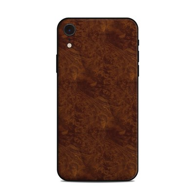 Apple iPhone XR Skin - Dark Burlwood