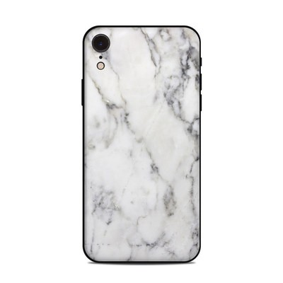 Apple iPhone XR Skin - White Marble