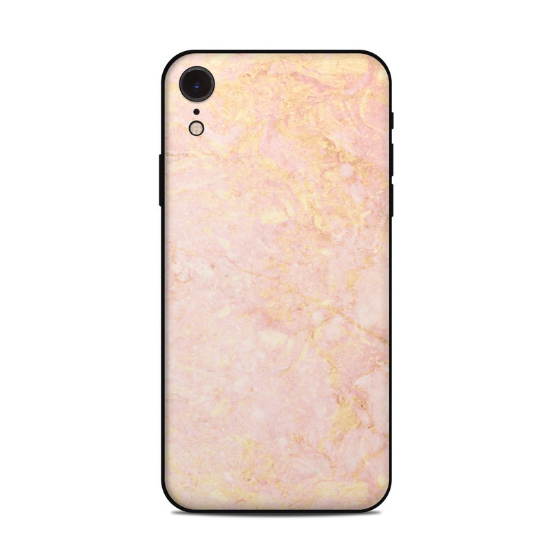 check out bc28d 98f90 Details about iPhone Xr Skin - Rose Gold Marble - Sticker Decal
