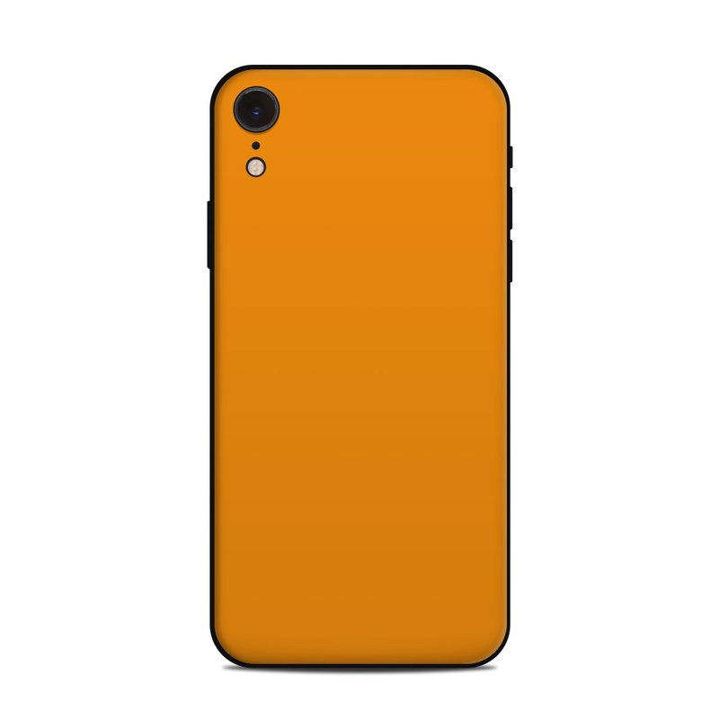 Apple Iphone Xr Skin Solid State Orange By Solid Colors Decalgirl