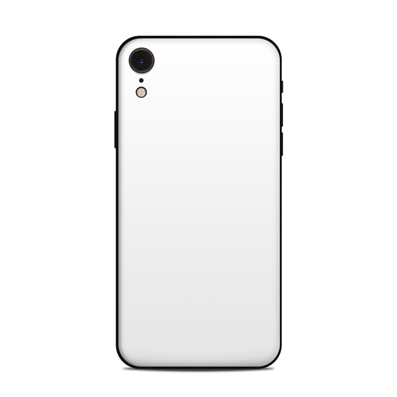 buy popular e961a 50941 Details about iPhone Xr Skin - Solid White - Sticker Decal