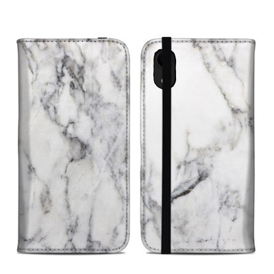 Apple iPhone XR Folio Case - White Marble