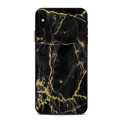 Apple iPhone Xs Max Skin - Black Gold Marble