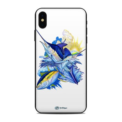 Apple iPhone Xs Max Skin - Blue White and Yellow