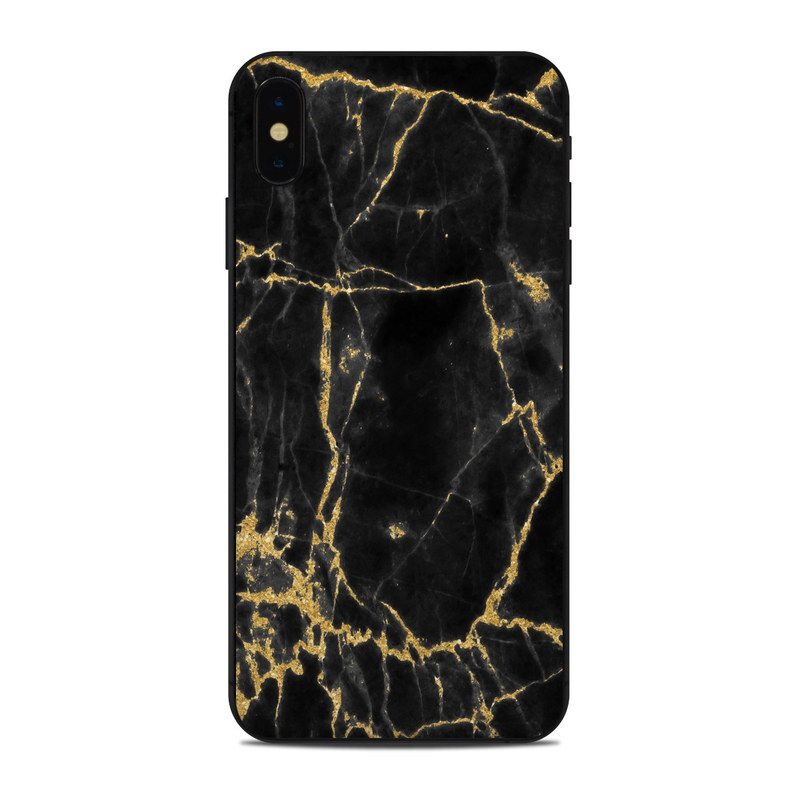 Apple Iphone Xs Max Skin Black Gold Marble
