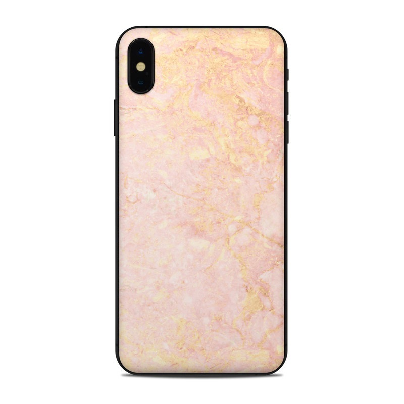 Apple iPhone Xs Max Skin , Rose Gold Marble
