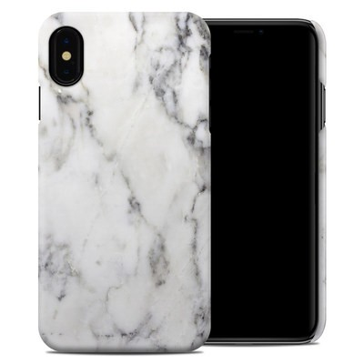 Apple iPhone XS Max Clip Case - White Marble