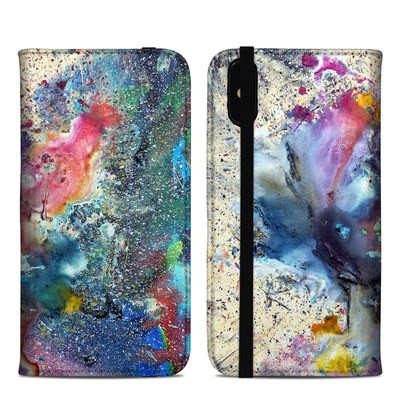 Apple iPhone XS Max Folio Case - Cosmic Flower