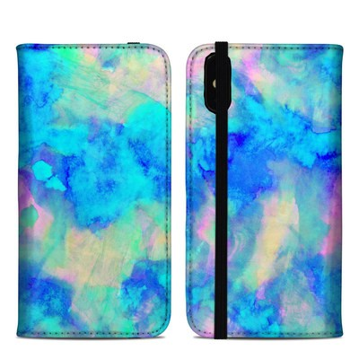 Apple iPhone XS Max Folio Case - Electrify Ice Blue