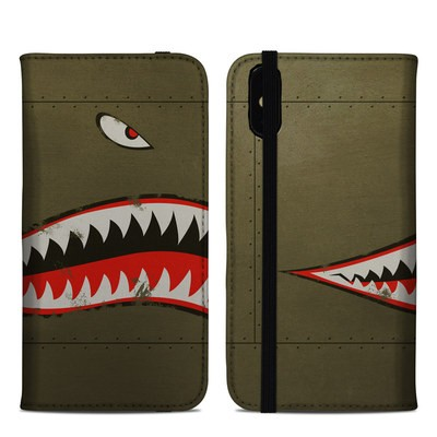 Apple iPhone XS Max Folio Case - USAF Shark