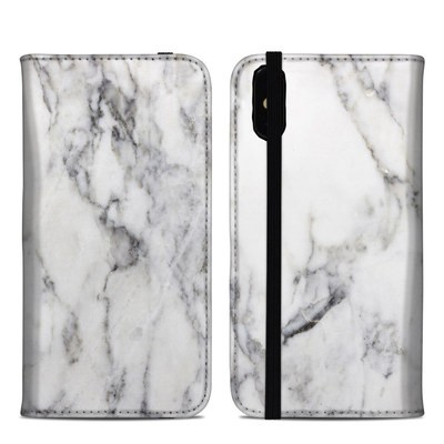 Apple iPhone XS Max Folio Case - White Marble