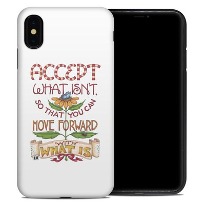 Apple iPhone XS Max Hybrid Case - Accept What Isn't