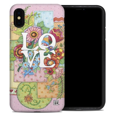 Apple iPhone XS Max Hybrid Case - Love And Stitches