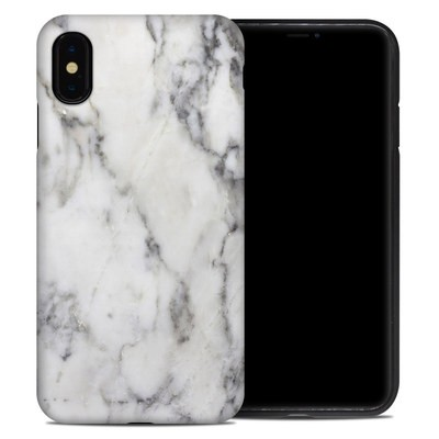 Apple iPhone XS Max Hybrid Case - White Marble
