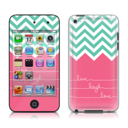 iPod Touch 4G Skin - Live Laugh Love