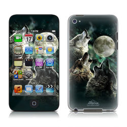 iPod Touch 4G Skin - Three Wolf Moon