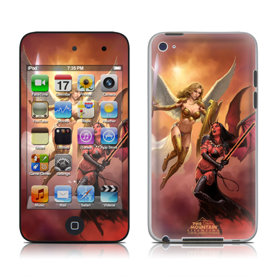 iPod Touch 4G Skin - Angel vs Demon