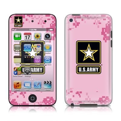 iPod Touch 4G Skin - Army Pink