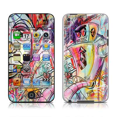 iPod Touch 4G Skin - Battery Acid Meltdown