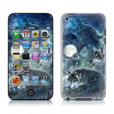 iPod Touch 4G Skin - Bark At The Moon
