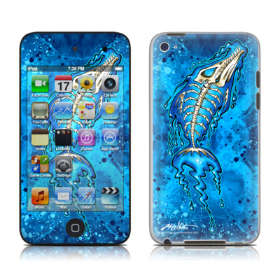 iPod Touch 4G Skin - Barracuda Bones